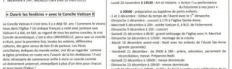 agenda du dimanche 18 novembre 2012
