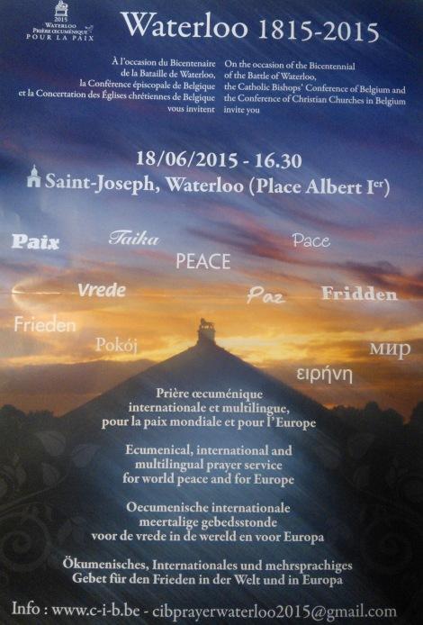 Prière pour la Paix 18 juin 2015